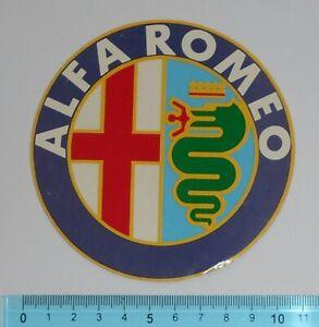ADESIVO-STICKER-VINTAGE-AUTOCOLLANT-ORIGINALE-ANNI-039-80-ALFA-ROMEO-10x10-cm-RARO