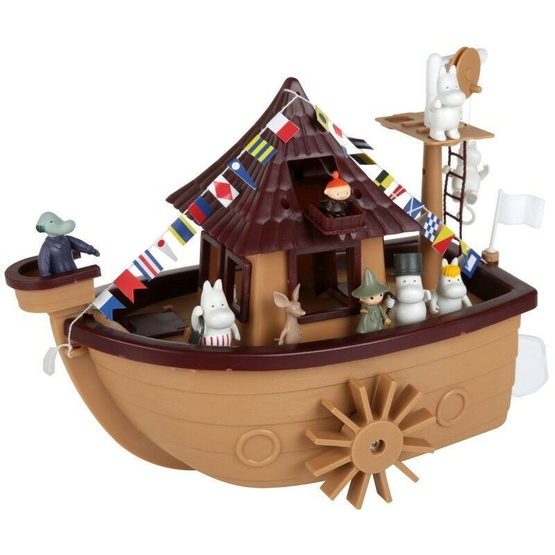 Moomin 25 Years Years Years Anniversary Boat with 9 Characters Martinex 4053f9
