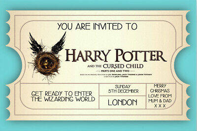 Personalised Harry Potter and the Cursed Child Mock Ticket ...