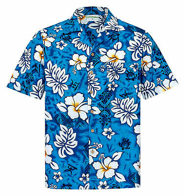 8XL Kurzarm Sommer Beach Hawaiian Shirt Herren Hawaii Hemd 100/% Baumwolle S