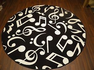 133CMX133CM-MUSIC-BLACK-RUGS-MATS-HOME-SCHOOL-EDUCATIONAL-NON-SILP-BEST-SELLER
