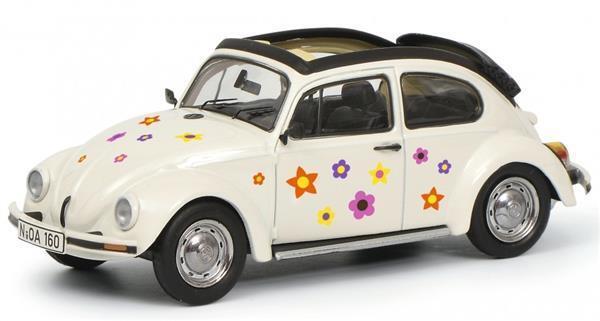 Schuco VW Kaefer Open Air Blaumen Weiß 1 43 450389600