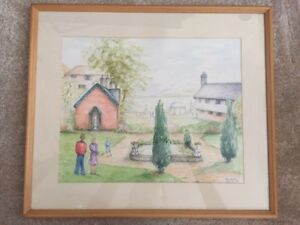 Watercolour-Portmeirion-Irene-Hollings-1989-Signed-Painting