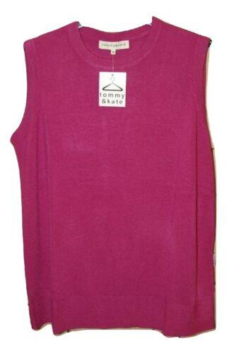 TOMMY KATE Femminile /& Senza Maniche Maglione Pullover Girocollo Rosa UK 14,16,18,20,22
