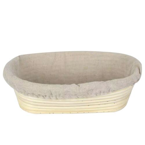 Natural Handmade Oval Round Bread Proofing Proving Basket Rattan Banneton-Dough