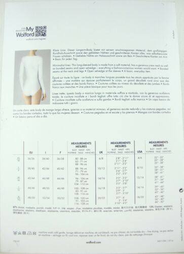79097 Body Ovp Neuf Taille Body Pure Manches Body Longues Wolford Bison Bo String Avec te L XwPEz4WzqZ