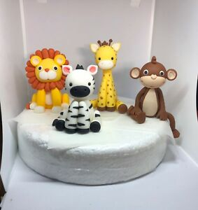 Image Is Loading Edible Cake Toppers Jungle Animals Boy Girl Birthday