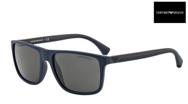 1fce02bf4b0f Emporio Armani Ea4033 523087 Sunglasses Blue Brown Rubber Grey Lens ...