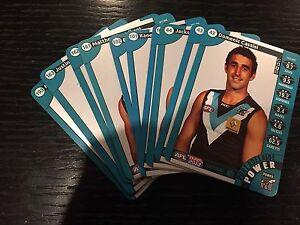 2013-AFL-Teamcoach-Complete-Silver-Team-Set-Port-Adelaide-x10