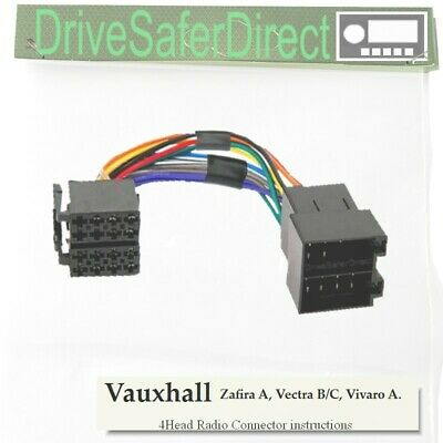 4-Head-8402-32 Radio Connector for Clarion Android//Vauxhall Vectra C 02-04