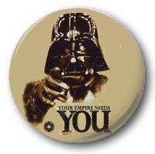 "Darth Needs You - 25mm 1"" Button Badge - Empire Star Wars Strikes Back Vader"