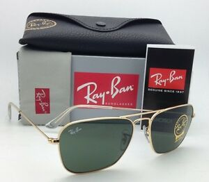 4ec16c11b8 New RAY-BAN Sunglasses CARAVAN RB 3136 001 58-15 Arista Gold w G-15 ...