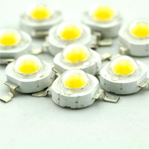 20 PCS 1W Led Chip High Power LED Beads 100-110LM White NEW