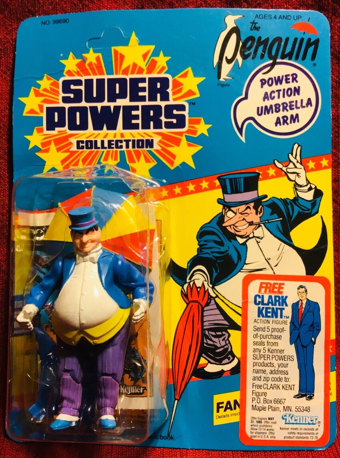 1985 KENNER SUPER POWERS THE PENGUIN FIGURE SEALED IN PACKAGE BATMAN
