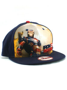 New Era Iron Patriot 9fifty Snapback Hat Adjustable Marvel Iron Man ... 97866dbfbbf