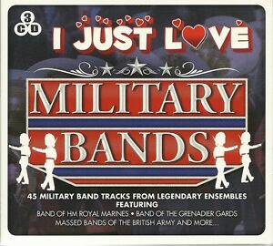 I-JUST-LOVE-MILITARY-BANDS-3-CD-SET-HM-ROYAL-MARINES-GOD-SAVE-THE-QUEEN-MORE