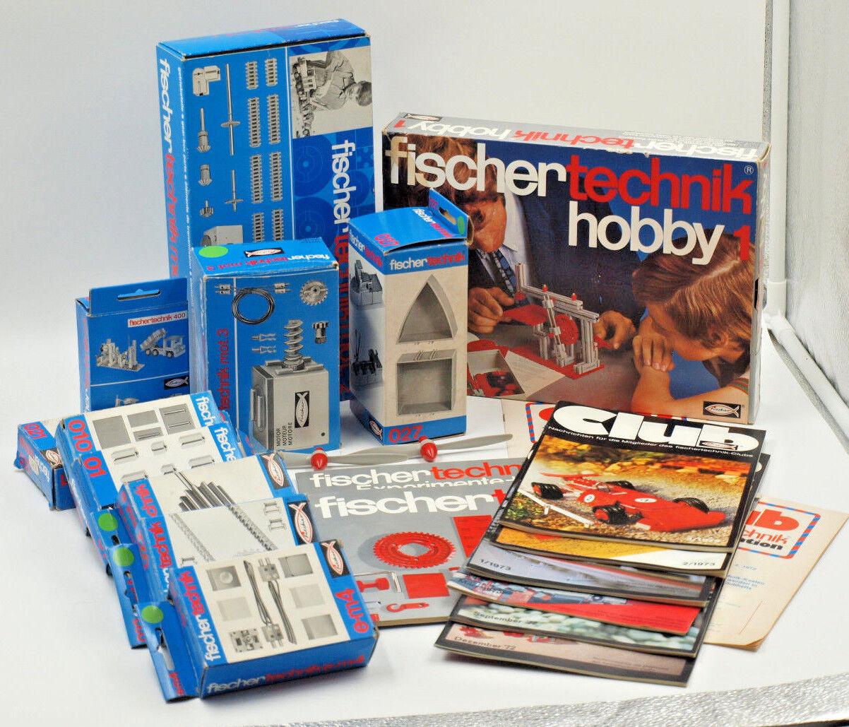 Fischer Technik ® bundle of 1972-1973 Club News Hobby Accessory Parts