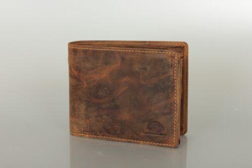 Leder Geldbörse im Querformat braun used look Greenburry 1796-25