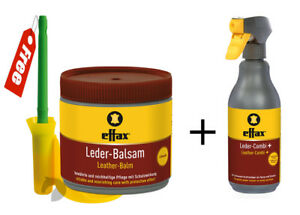 Effax-Leather-Balsam-Combi-Cleaner-Spray-pack-FREE-Brushholder-Car-saddlery-Boot