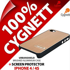 New Cygnett Urbanshield Brushed Aluminium Case For Apple iPhone 4S Cover Bronze