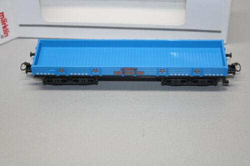 Märklin 4-Trailer baja bordo carro Circus mondolino azul pista h0 OVP