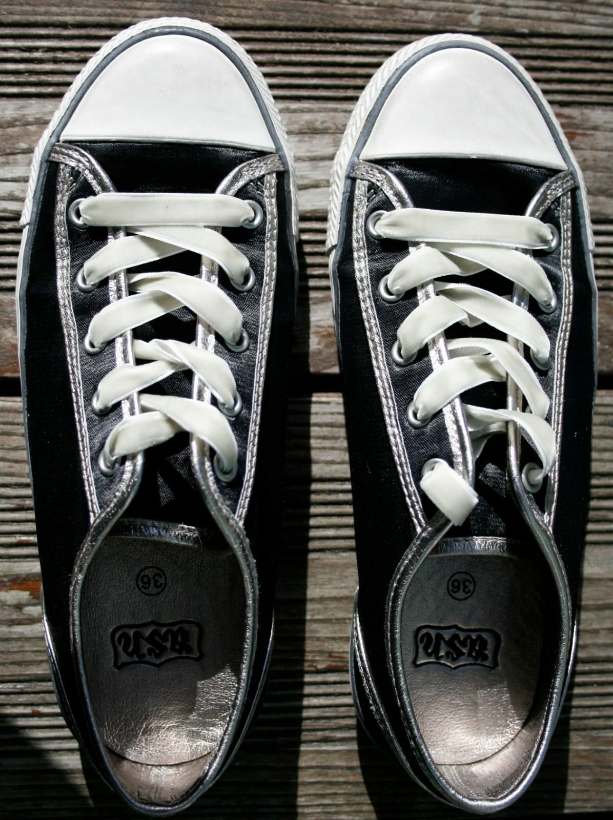 LUXUS  ASH Trend18 Sneaker Satin Samt Dirndl 36 schwarz Blogger Wiesn Dirndl Samt Instagram 547a99