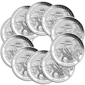 10 x 1 oz Silber Kookaburra Privy Mark Schwein 2019 in Münzkapsel