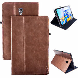 best sneakers 3a381 deff4 Details about Premium Leather Case Samsung Galaxy Tab S4 10,5