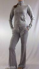 Juicy Couture Velour Set Tracksuit Grey Jacket Pants Size XL