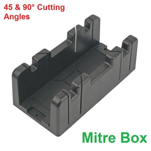 MITRE BOX 45 /& 90° Cutting Angles Wood Cutting Saw Guide Accurate Miter Box New