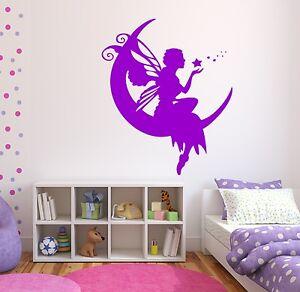 332 wandtatoo aufkleber kinderzimmer elfe sterne kinder geschenke wandtattoo ebay. Black Bedroom Furniture Sets. Home Design Ideas