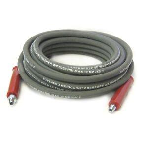 Suttner-B3V58060-50-039-Gray-6000-PSI-3-8-034-Pressure-Washer-Hose-MNPT-x-M-Swivel