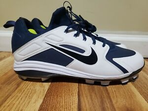 Nike Huarache Low Top Cleats Mens Size 12.5 White Navy Blue ...