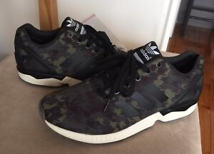 Adidas Zx Flux Italia Independent 9.5 Black Green Stan smith Ultra Boost Camo