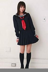 Image Is Loading Japanese Japan School Girl Long Sleeved Uniform Cosplay