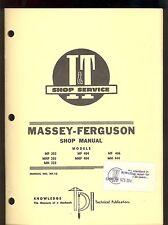 MASSEY-FERGUSON SHOP MANUAL MHF303/ MH333 / MF & MHF404/ MF406 /MH444 MF-10