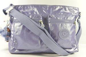 Kipling-HB7242-594-Coralie-GM-Metallic-Mist-Purple-Crossbody-Shoulder-Bag