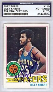 Billy-Knight-Autographed-Signed-1977-Topps-Card-110-Pacers-PSA-DNA-83449054