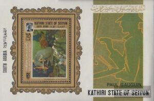Delicious Adén Nuevo Con Goma Original 1967 completa Edición Kathiri Estados Bloque 3a