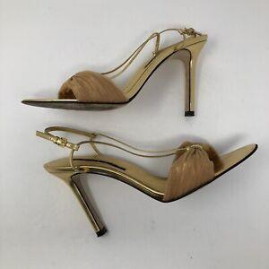 5 talon métallisé Shelli Blanchisserie Doré Segal à soirée de 8 chaussure et eYWDHE29I