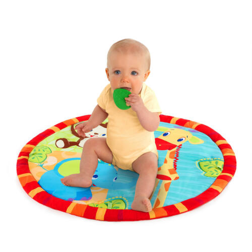 *Bright Starts Safari Tales Activity Gym Playmat with Prop-Up Pillow; 4 Melodies