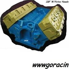 351W Small Block Ford Plastic Replica Engine Block w/ Yates Heads Engine Block *