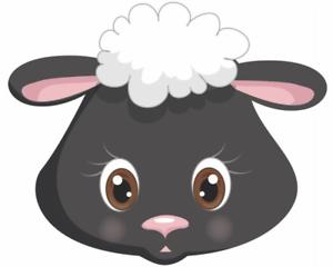 Samunshi Tiergesicht Schaf Aufkleber Sticker Autoaufkleber Scheibenaufkleber