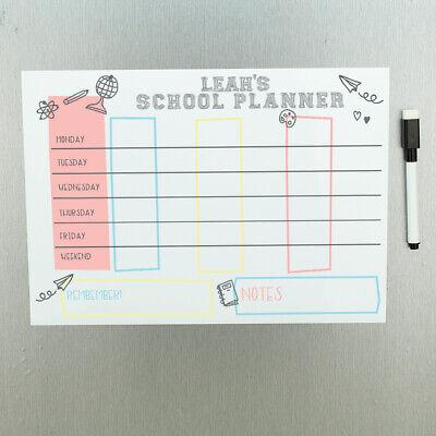 Personalised Magnetic School Homework Wall Planner Whiteboard With Pen Ebay