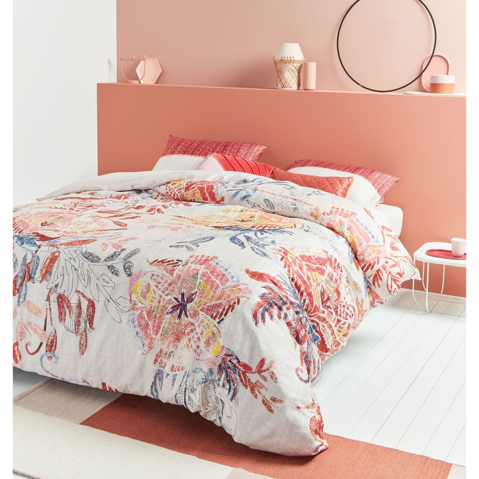 Beautiful Mess Multi Cotton Sateen Quilt Cover Set by Oilily - QUEEN KING