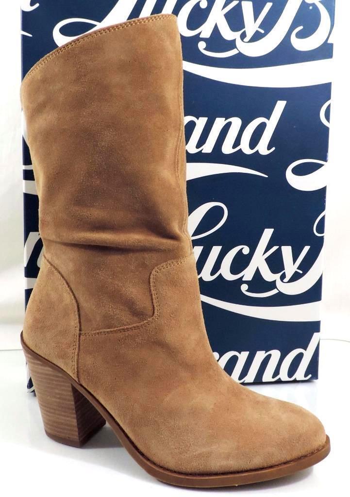 Lucky Brand Para Mujer botas De Eje emberleigh Slouch Mediados de ante Sésamo Engrasado
