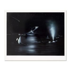 Wyland-034-Orca-Starry-Night-034-Signed-Limited-Edition-Art-COA