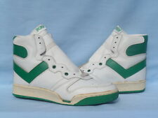 Vintage 1980s PONY MVP Hi Top White/Kelly Green RARE Original Not Retro Size 9