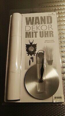 KüHn Wand Dekor Mit Uhr, Dekosticker Mit Quarzuhr, Wandtattoo, Kuckucksuhr, Uhr