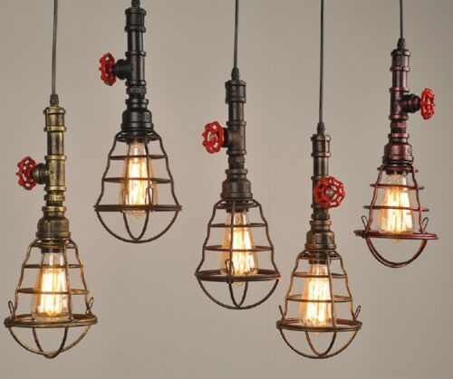 Retro Rohpe Käfig-Lenge-Lampe Vintage Deckenlampen Anhänger Lampe Kronleuchter